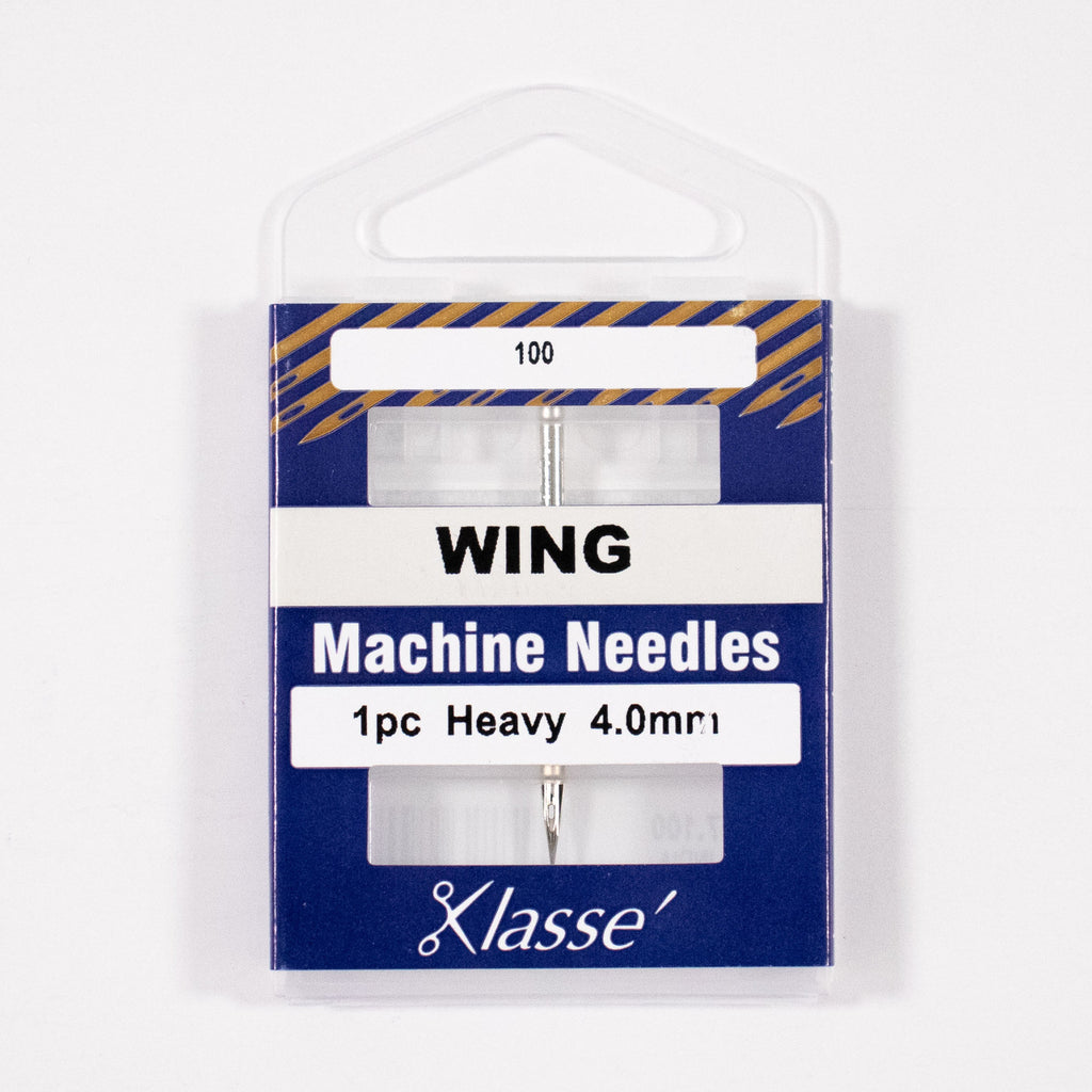 Wing/Hemstitch Needle 4.0mm wide, Size 100/16, Pkg.1