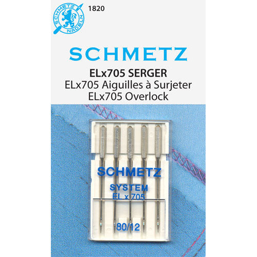 Schmetz ELx705 Serger Needles - 80/12