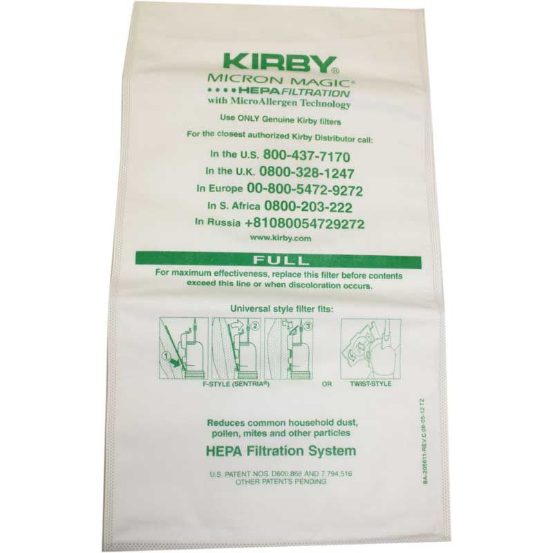 Kirby 3M Allergen Control Bag