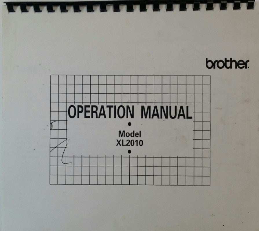Brother XL2010 Instruction Book