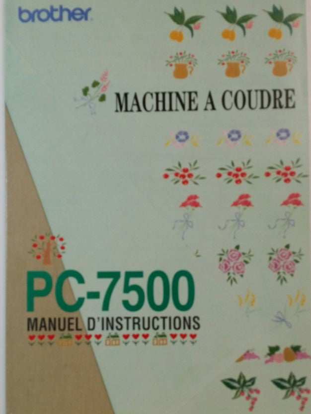 Brother PC-7500 Instruction Book - French