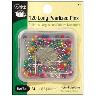 "Long Pearlized Pins 1-1/2""120c, D64, [900]"