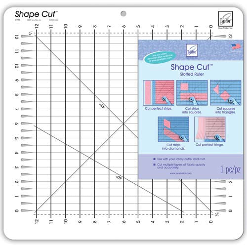 "Shape Cuts Slotted 1/2"" Ruler by June Tailor"