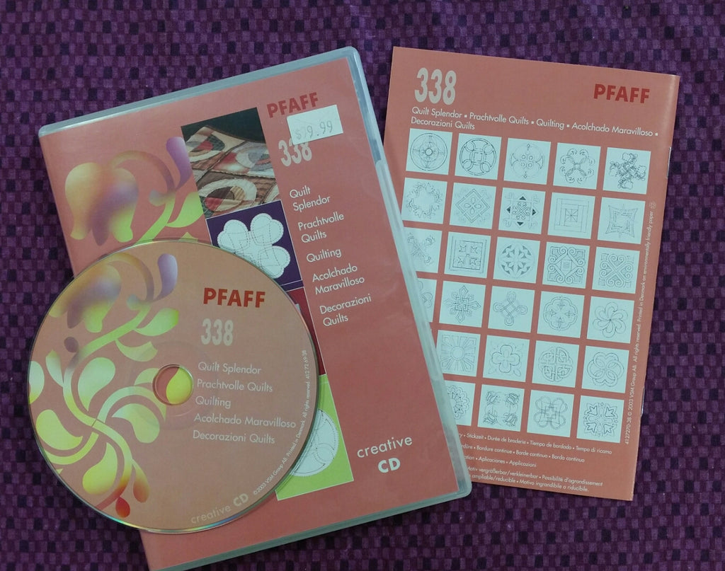 Pfaff Embroidery Creative CD 338 Quilt Splendor, Used [375]