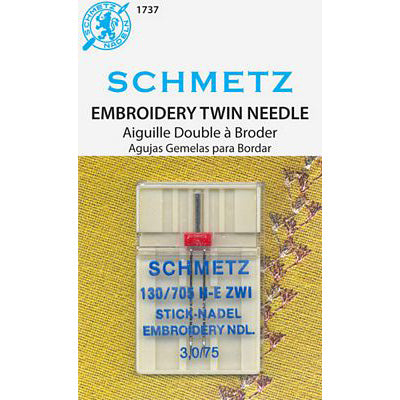 Twin Embroidery Needles, Schmetz[900]