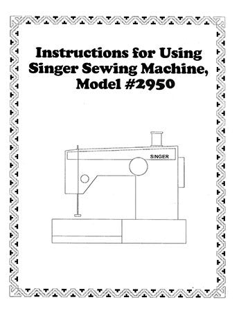 Singer 2950, Instruction Book