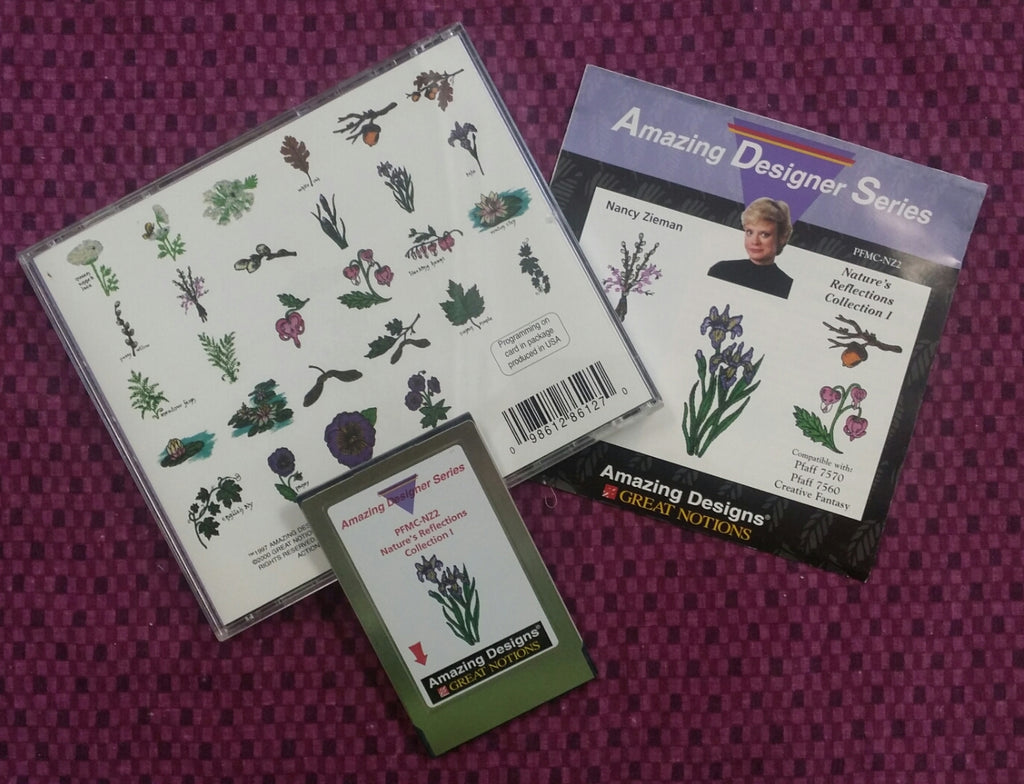 Amazing Designs Amazing Designer Series Embroidery Card - Nancy Zieman's Nature's Reflections Collection I.