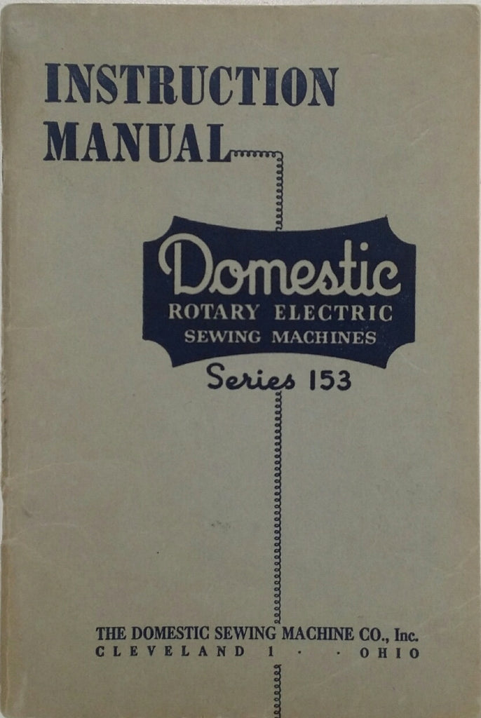 Domestic Model 153 Instruction Book