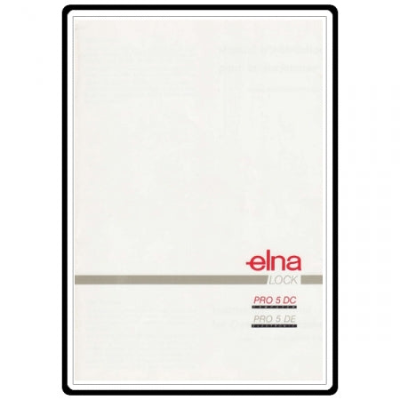 Elna Lock PRO5DC Instruction Book