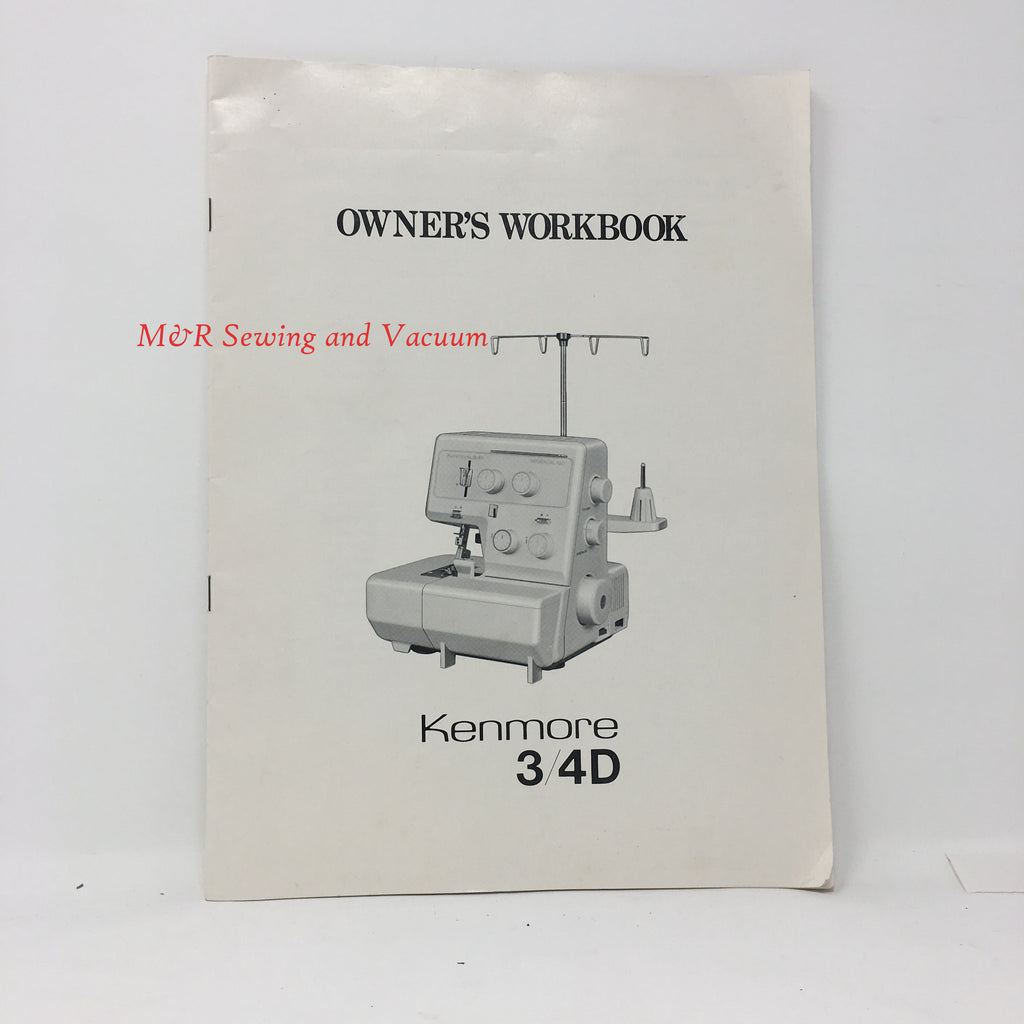 Kenmore Model 3/4D Serger Manual