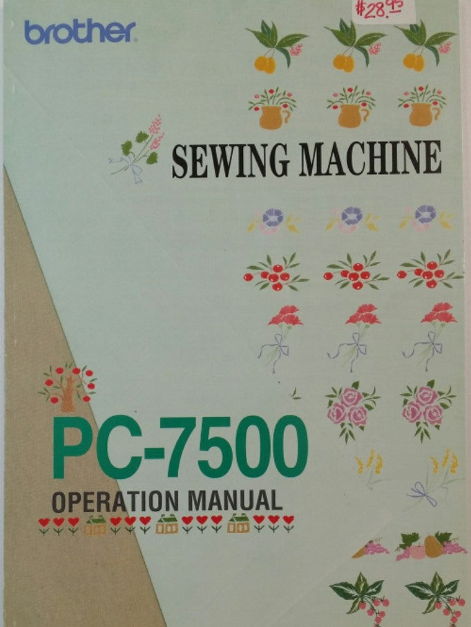 Brother PC-7500 Instruction Book