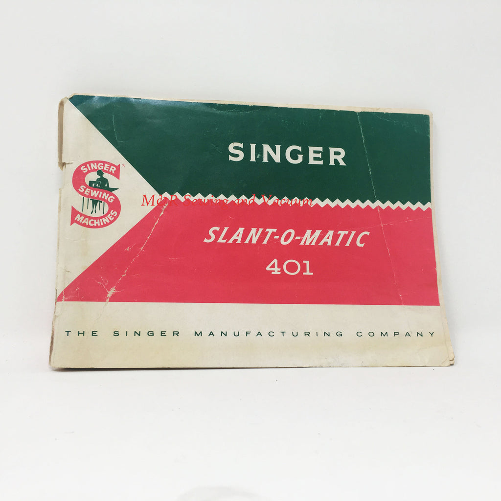 Singer Slant-O-Matic 401 Manual