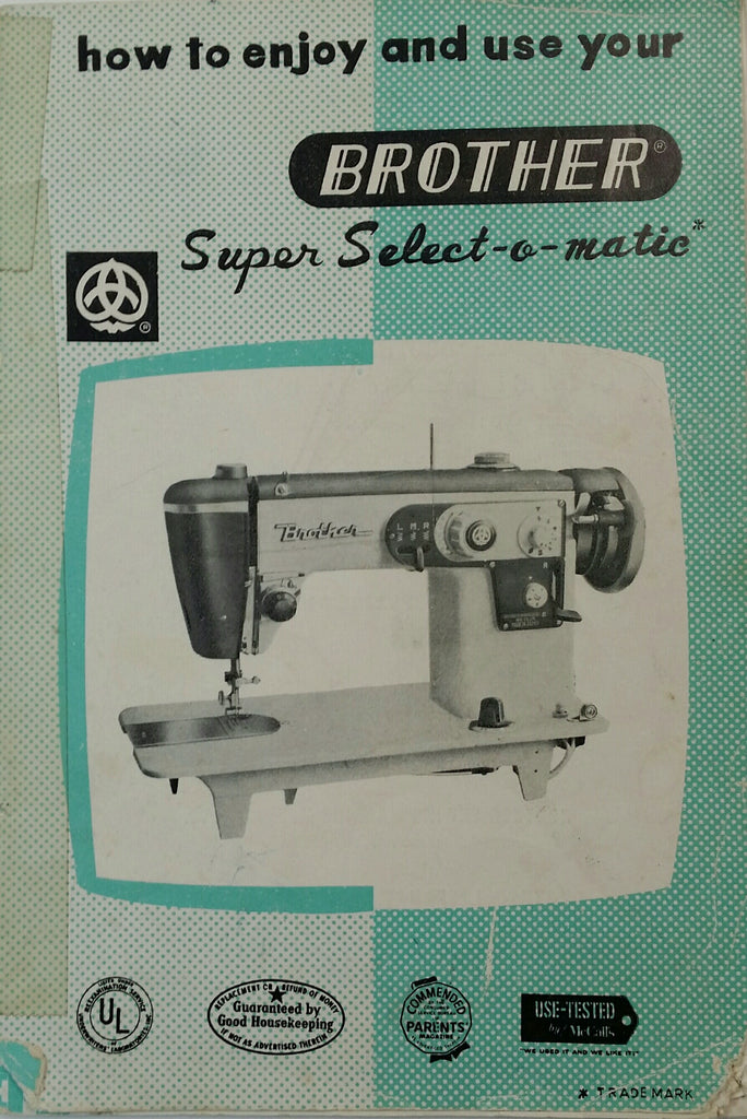 Brother Super Select-o-Matic Instruction Book
