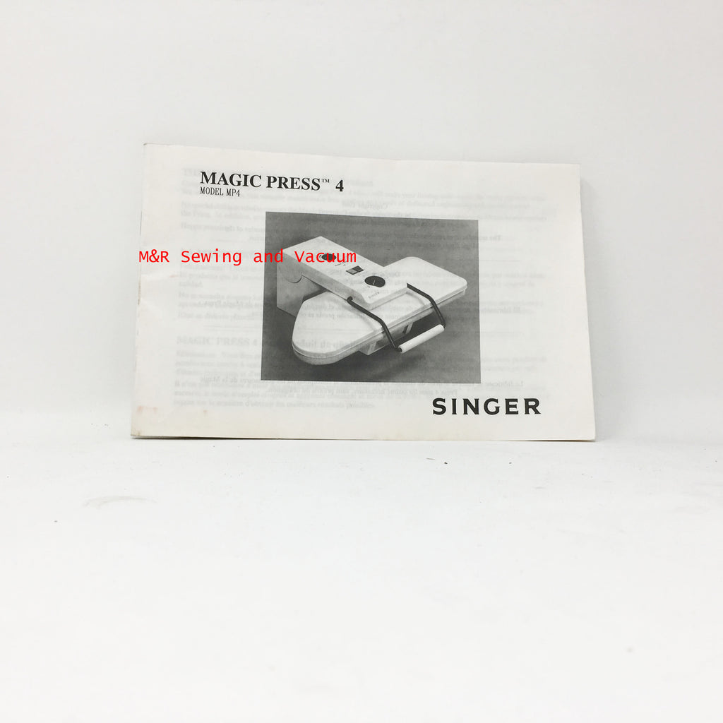 Singer Magic Press 4 Manual