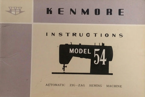 Kenmore Model 54 Instruction Book