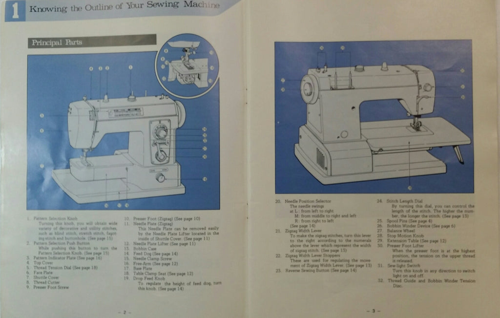Brother XL-703 Instruction Book
