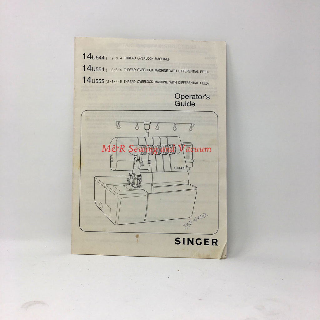 Singer 14u544, 14u554, 14u555 Serger Manual