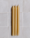 DIY Tapered Beeswax Candles