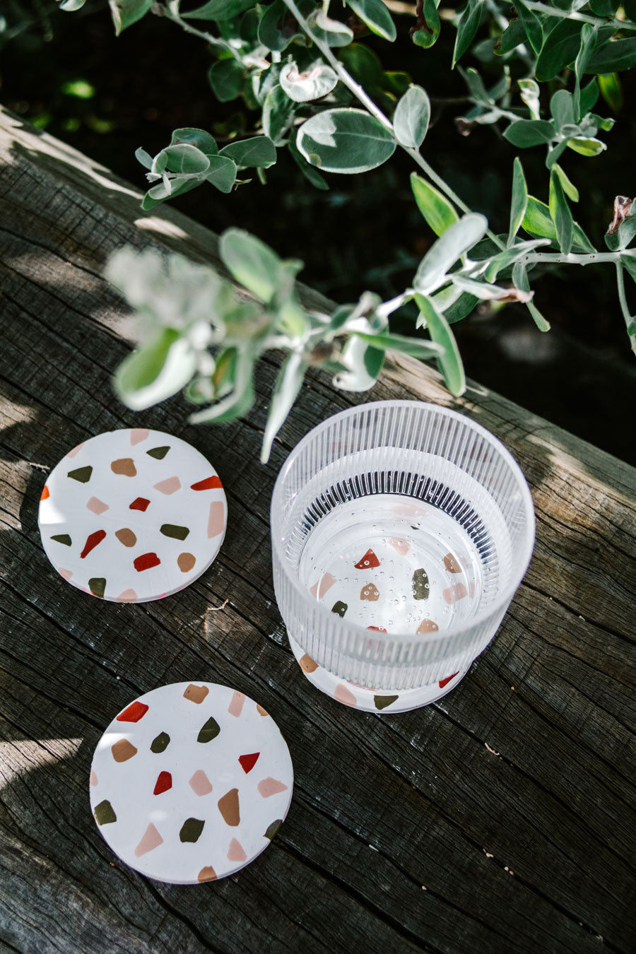 Smor-Kitchen-DIY-Terrazzo-Clay-Coasters