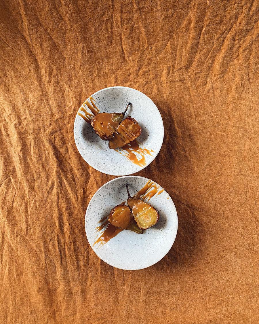 Smor Kitchen Slow Roasted Pears with Salted Caramel and Ice Cream