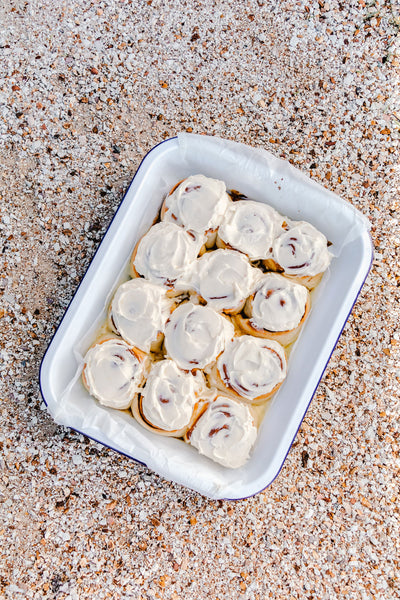 Super Soft Cinnamon Rolls with Fluffy Cream Cheese Icing