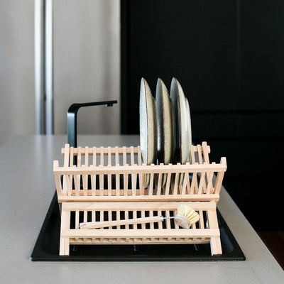 Wooden Dish Drying Rack