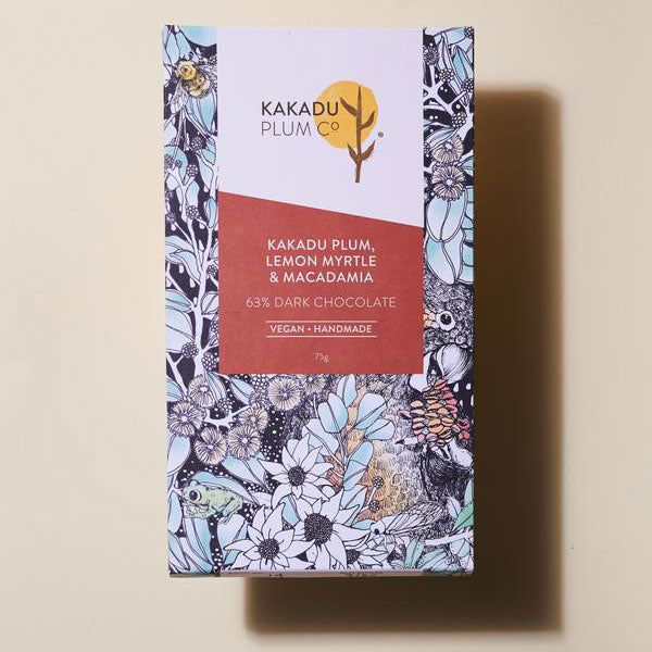 Kakadu Plum, Lemon Myrtle and Macadamia Dark Chocolate Bar