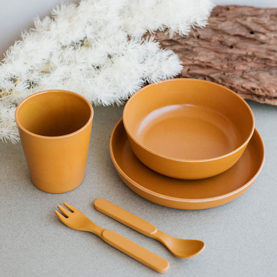 Kids Bamboo Dinnerware Gather Set