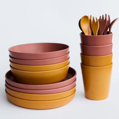 Kids Bamboo Dinnerware Picnic Set - Celeste and Clay