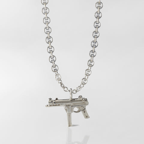 Zombie Weapon of Choice- Hand Gun Pendant