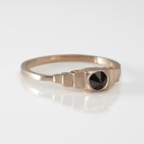 Inverted Black Diamond Deco Ring