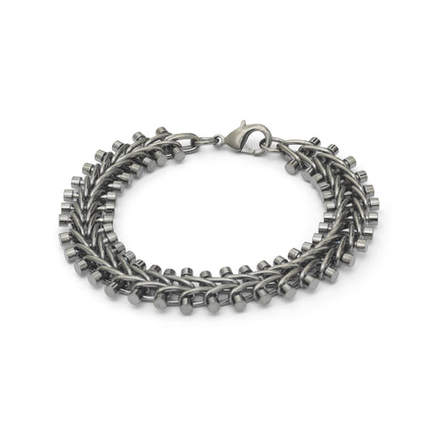 Platinum Plated Tribal Vertebrae Bracelet