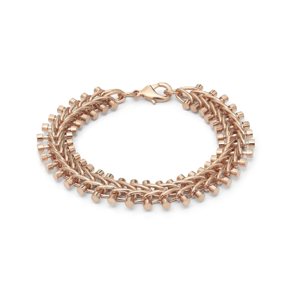 14K Rose Gold Plated Tribal Vertebrae Bracelet