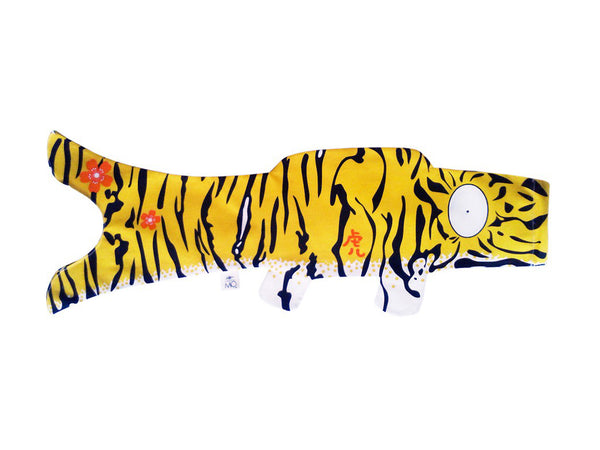 Koinobori Tiger 70cm / Madame Mo Frankrike (鯉幟 / Traditionell japansk vindstrut / vindsocka)