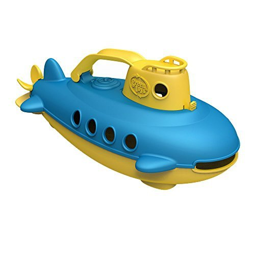 Ubåt - Submarine - Greentoys - Made in USA! (Gul köl / Blått däck)