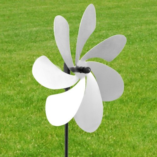 Vindsnurra Rostfri Blomma Ø28cm i Rostfritt stål - Made in Germany / Windrat / Wind Wheel
