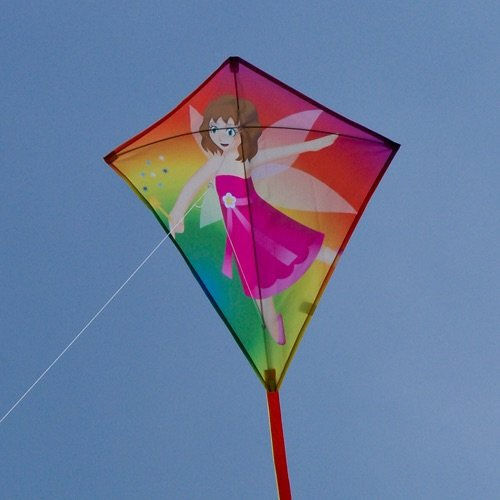 Korsdrake fe / Fee drache / Fairy Kite / DRAKE MED FEMOTIV / COLOURS IN MOTION GERMANY