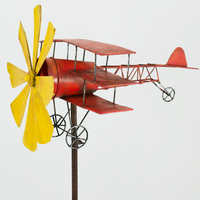 Röde Baronen / Red Baron / Rött Flygplan i Metall / Vindsnurra / Vindspel /Aircraft / Airplane / Wind Game / Wind Wheel (Rabatt 20%)