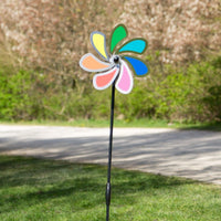 Vindsnura Regnbåge Blomma Ø20cm i Rostfritt stål - Made in Germany / Windrat / Wind Wheel