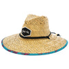 Pink Palms Straw Hat