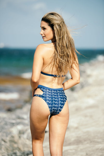 KAIA SHARK PRINT BOTTOM