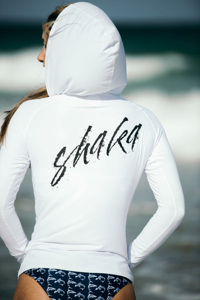 Spray Painted Shaka Performance Hoodie