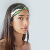 Cross Knot Leaf Printed Headband