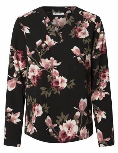 PIECES - PCLONA bluse med blomster