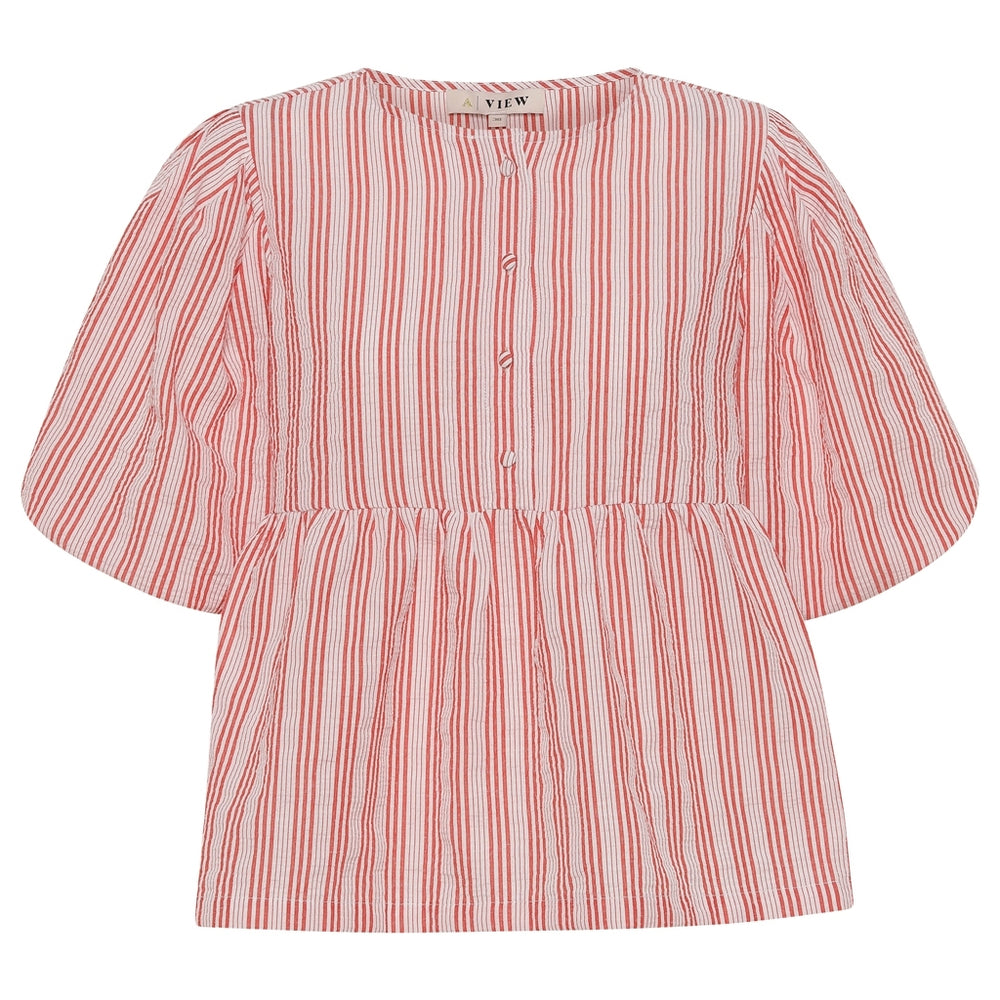 A-View - Rikka blouse - Red/white
