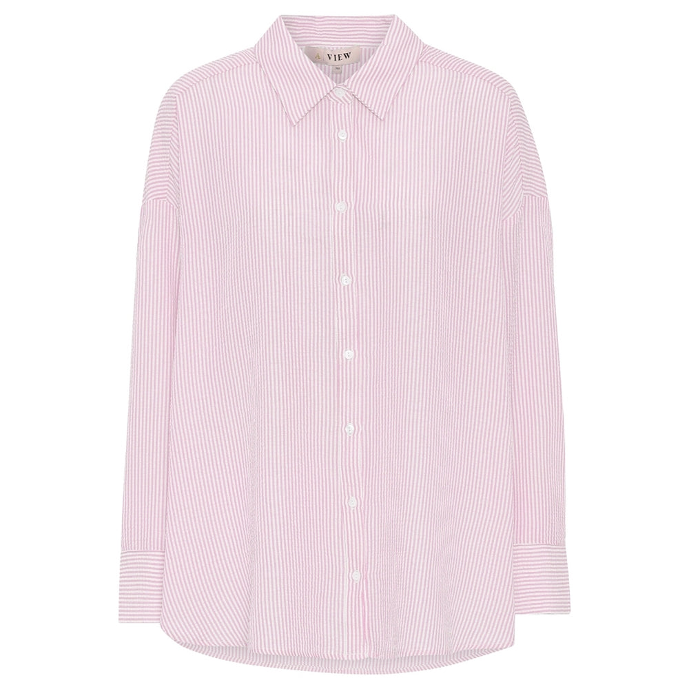 A-View - Sonja shirt - Pink/White