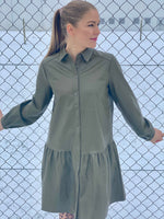 A-view - Iris PU shirt dress (Army)