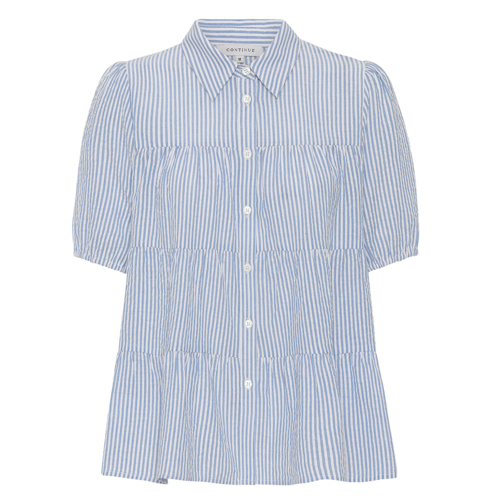 Continue - Melina SS Stripe - Blue Stripe