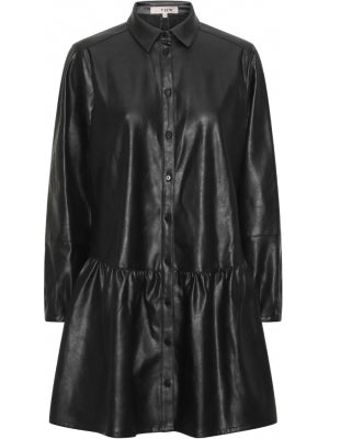 A-view - Iris PU shirt dress (Sort)