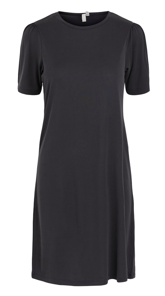 PCKAMALA - Puff sleeve dress (Sort)